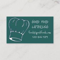 Stylish modern hip catering chef hat business card