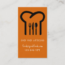 Stylish modern hip catering foodie business card