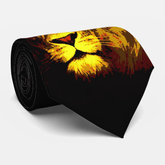 Stylish Modern Lion Pop Art Neck Tie