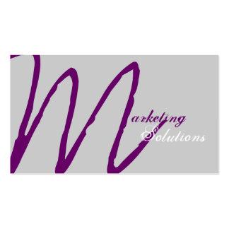 Stylish Modern Marketing Monogram Business Card