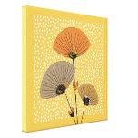 Stylish Modern Mid Century Floral Illustration Canvas Print