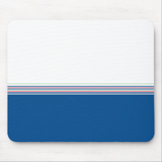 Stylish modern minimal dark blue stripes pattern … mouse pad