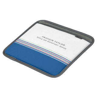 Stylish modern minimal dark blue stripes pattern … sleeve for iPads