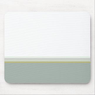 Stylish modern minimal gray stripes pattern … mouse pad