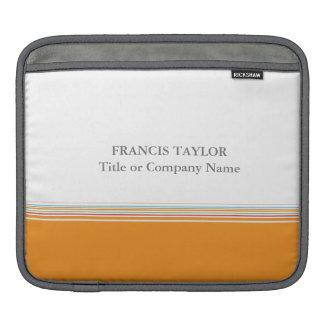 Stylish modern minimal orange stripes pattern … iPad sleeve