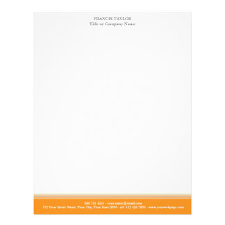Stylish modern minimal orange stripes pattern … letterhead