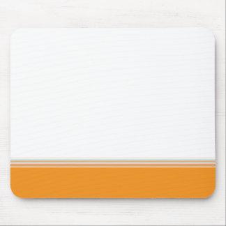 Stylish modern minimal orange stripes pattern … mouse pad