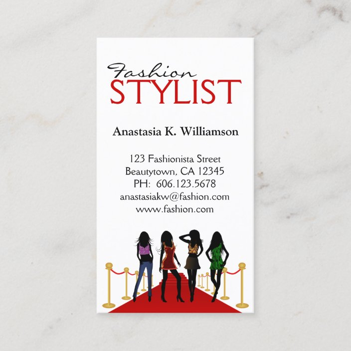 Stylish Modern Models Stylist Fashion Designer Business Card Zazzle Com