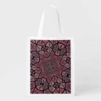 Stylish modern pattern grocery bags