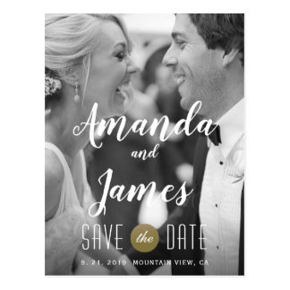 Stylish Modern Photo Save the Date Postcard