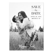 Stylish Modern Photo Wedding Custom Save the Date Magnetic Invitation