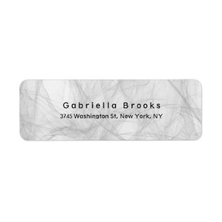 Stylish Modern Plain Elegant Unique Grey Label