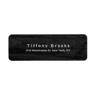 Stylish Modern Plain Elegant Unique Grey Wood Label