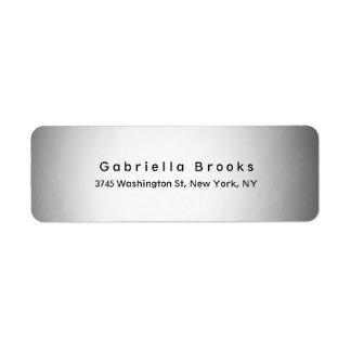 Stylish Modern Plain Elegant Unique Light Grey Label