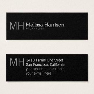 stylish & modern professional black mini business card