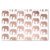 Stylish modern rose gold wild elephants pattern tissue paper