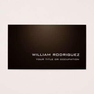 Stylish Modern Sepia Brown Sophisticated Trendy Business Card
