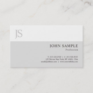 Stylish Modern Simple Professional Plain Chic Luxe Business Card
