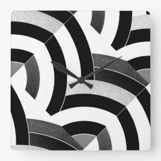 stylish modern sophisticated chevrons square wall clock