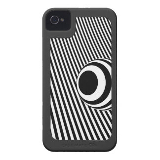 Stylish modern striped with surround Case-Mate iPhone 4 case