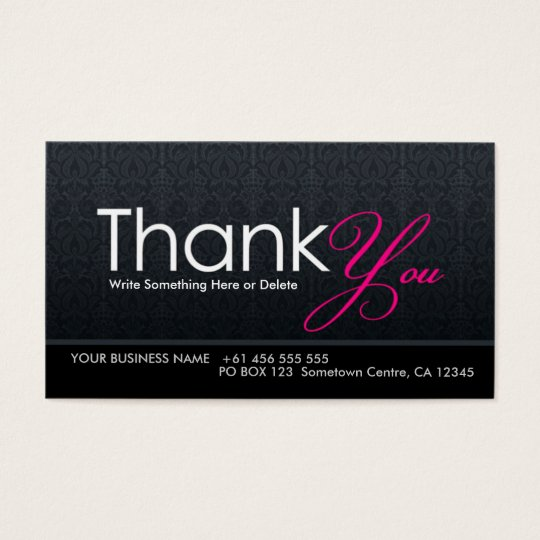 thank you business cards wording business thank you notes thank - Thank You For Your Business Cards