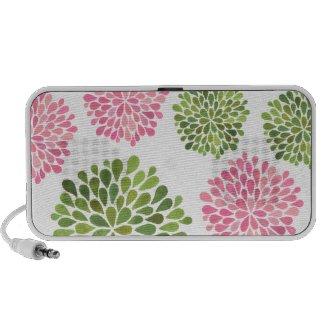 Stylish Modern Trendy Summer Floral Speakers doodle