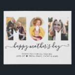 """Stylish MOM Photo Collage Happy Mother's Day Faux Canvas Print<br><div class=""""desc"""">Stylish Modern MOM Photo Collage Happy Mother's Day Faux Canvas Print</div>"""
