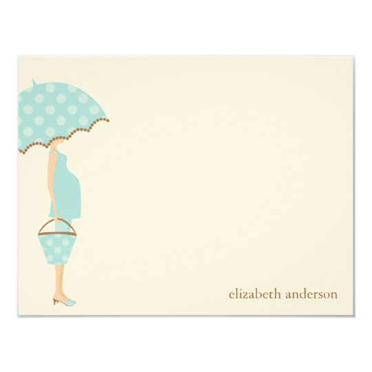 Stylish Mom to Be Baby Shower Flat Thank You Cards