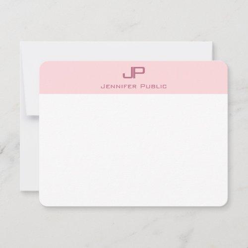 Stylish Monogram Blush Pink Minimalist Template