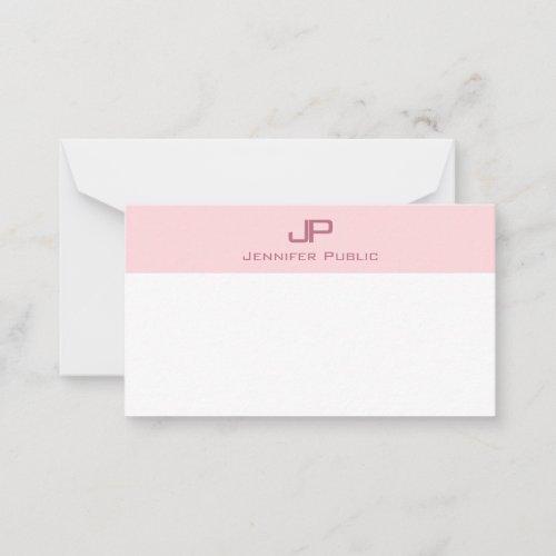 Stylish Monogram Blush Pink Simple Template