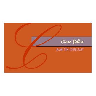 Stylish Monogram Business Card