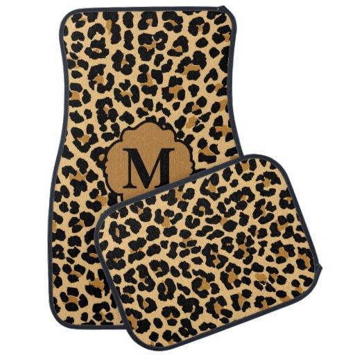 Stylish Monogram Leopard Print Custom Car Mats Car Mat