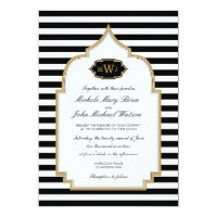 Stylish Monogram Moroccan Style Wedding Invitation (<em>$2.01</em>)