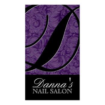 Stylish Monogram Salon Business Cards