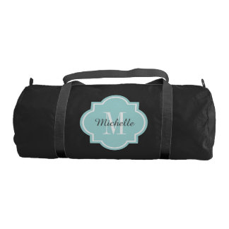 Stylish monogrammed duffle bag for women and girls