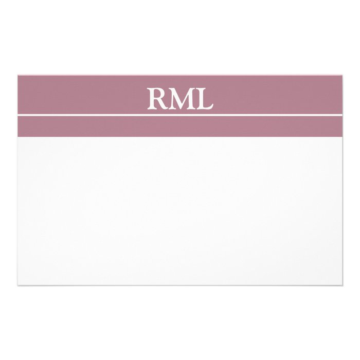 Stylish Monogrammed Personal Notecards Stationery