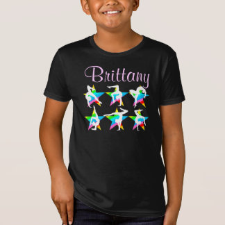 STYLISH MULTI COLOR PERSONALIZED GYMNASTICS DESIGN T-Shirt