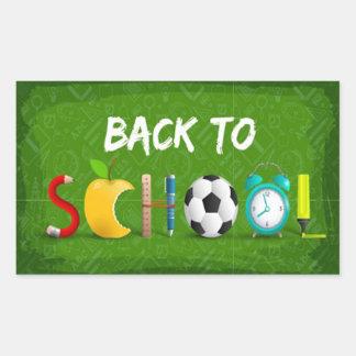 Stylish Multicoloured Back to School Rectangular Sticker