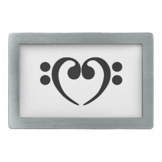 Stylish music bass clef heart design belt buckle