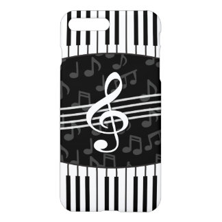 Stylish Music Notes Treble Clef and Piano Keys iPhone 7 Plus Case