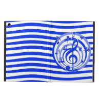 Stylish musical notes and stripes design iPad air case