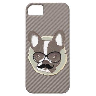 Stylish Mustache French Bulldog iPhone 5 Case