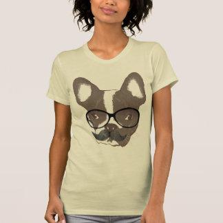 Stylish Mustache French Bulldog T Shirt