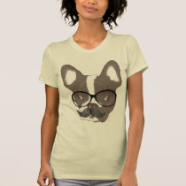Stylish Mustache French Bulldog T-Shirt
