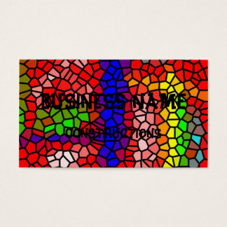 Stylish mutlicolored stained glass business card