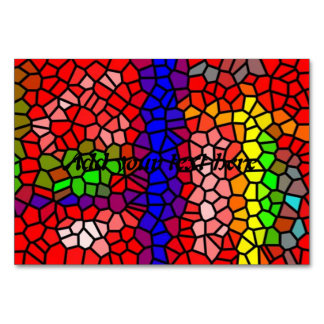 Stylish mutlicolored stained glass card