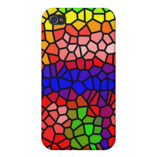 Stylish mutlicolored stained glass covers for iPhone 4