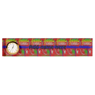 Stylish mutlicolored stained glass desk name plate
