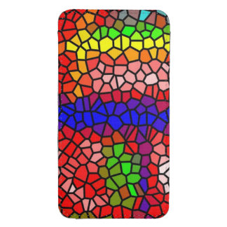 Stylish mutlicolored stained glass galaxy s4 pouch
