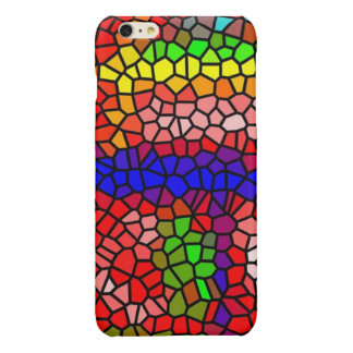 Stylish mutlicolored stained glass glossy iPhone 6 plus case